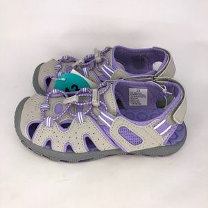 Khombu Girl's Dana Kids Active Sandals Gray Purple
